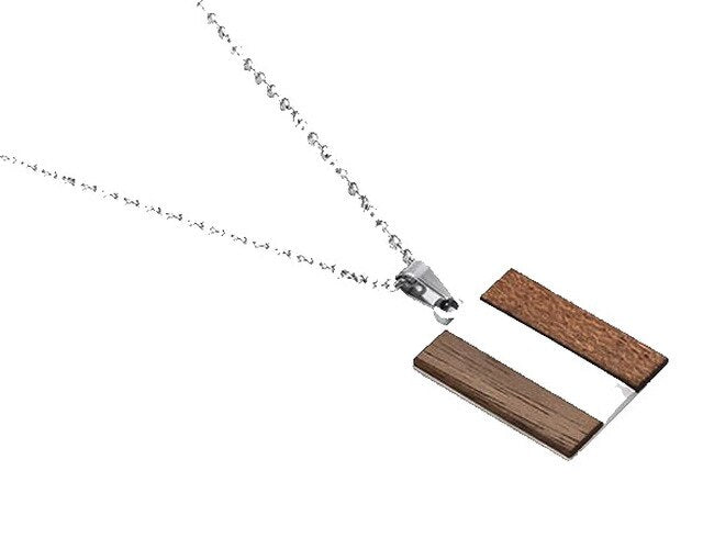 Wood Necklaces in Silver