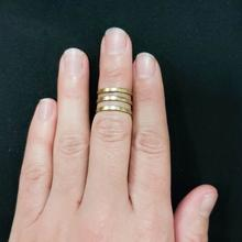 Triple Midi Brass Ring