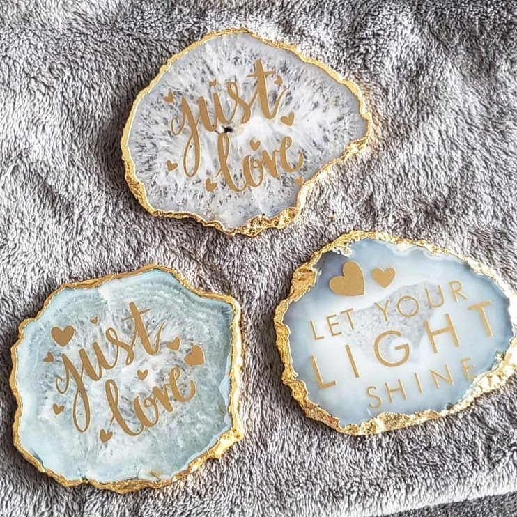 Crystal Coasters with Decal