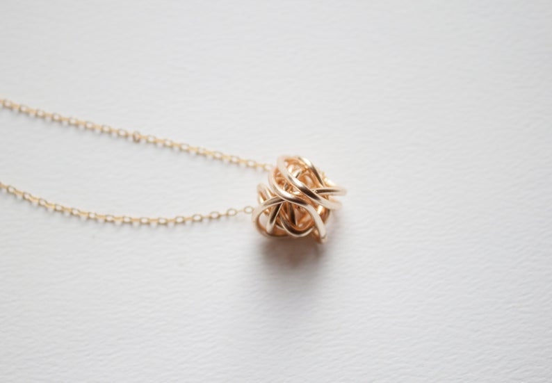 14K Gold Knot Necklace