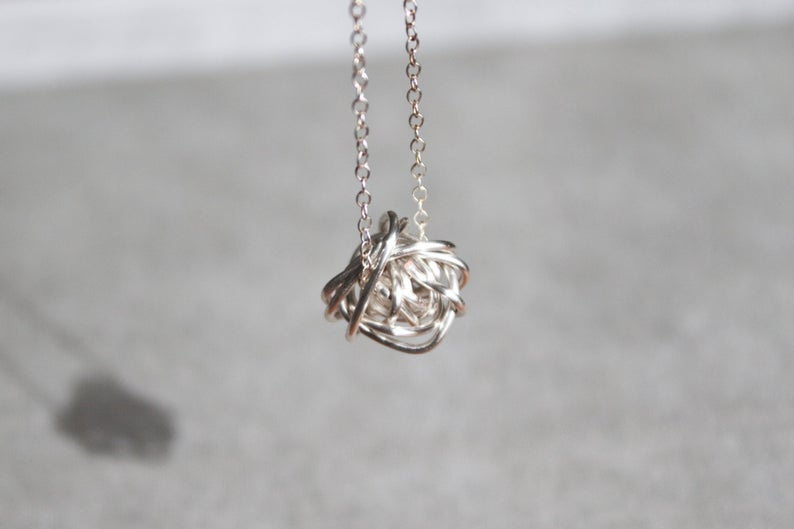 Sterling Silver Knot Necklace