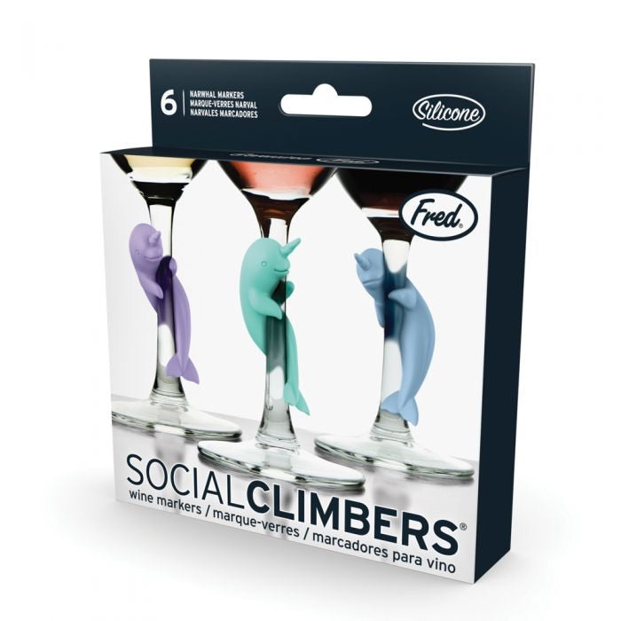 Social Climbers Narwal Drink Markers