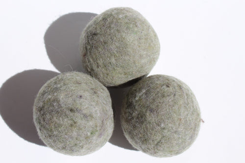 Wool laundry balls (set of 3)