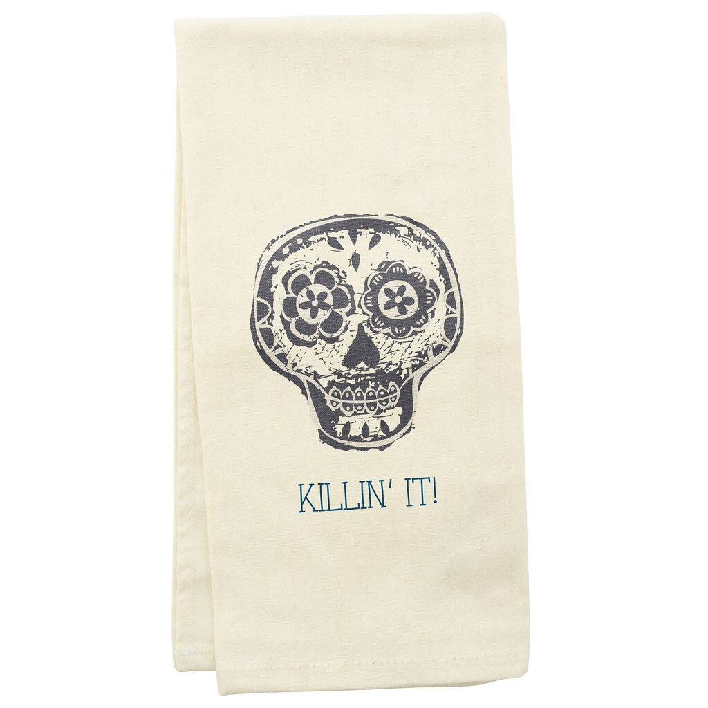 Tea Towel Skull