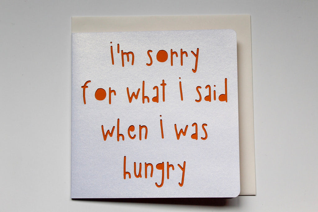 Sorry Hangry Card