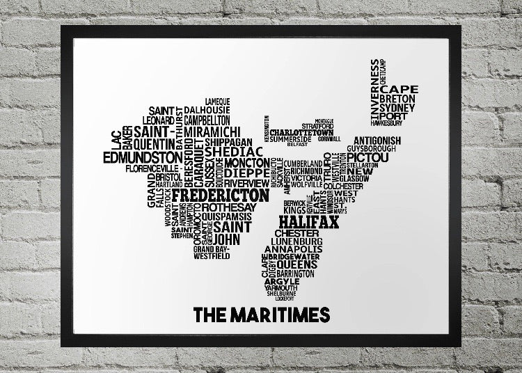 Maritime cities map print