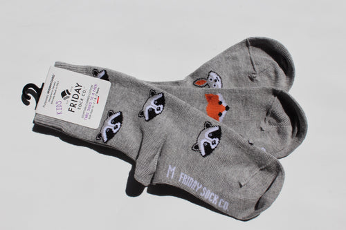 Forest Animal Kids Socks (5-7 yrs)