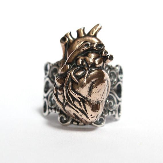 Anatomical Heart Ring
