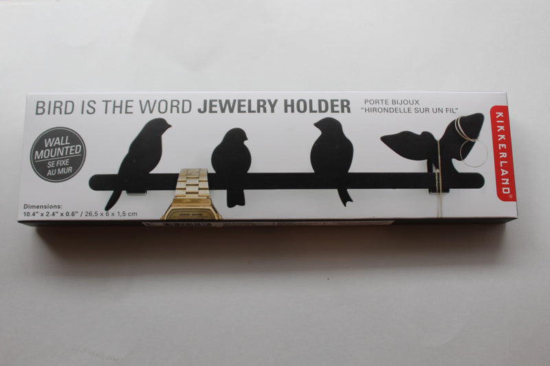 Jewelry Holder Wall Bird Black