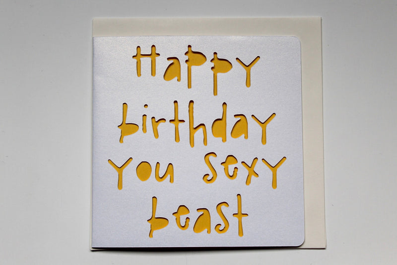 Happy Birthday Sexy Beast Card