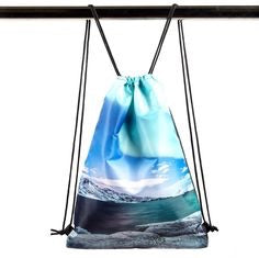 Northern lights drawstring bag