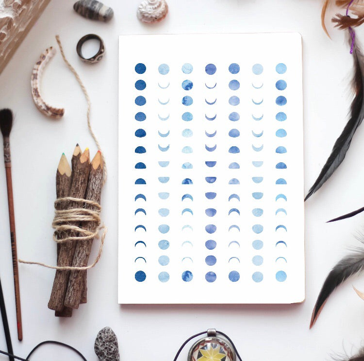 Blue Lunar Phase Journal
