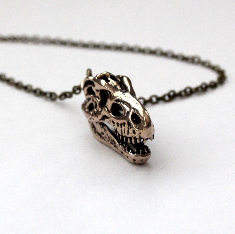 3D T-Rex Skull Necklace