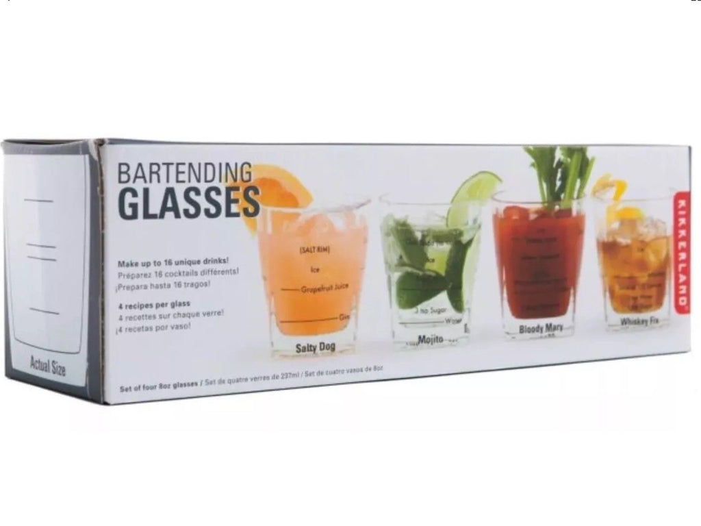 Bartending Glasses S/4