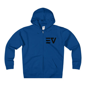 Early Vibes Unisex Fleece Zip Hoodie - Black Lettering