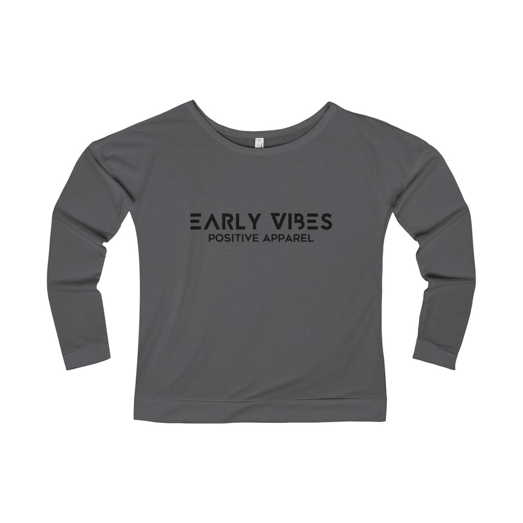 Early Vibes Women's Terry Long Sleeve Scoop-neck T-Shirt