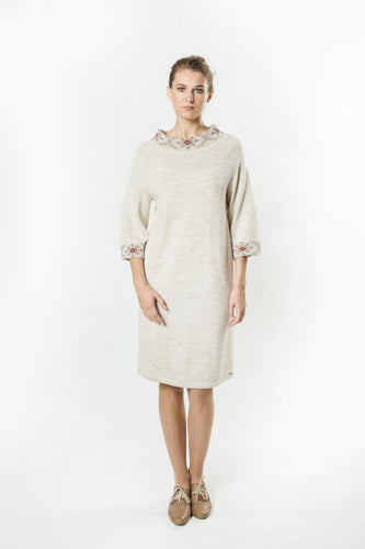 Dress with Vertically Knitted Latvian Ornament
