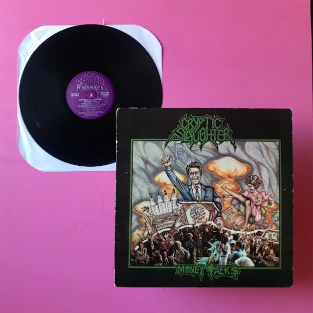 Cryptic Slaughter - Money Talks LP (Metal Blade, 1987)