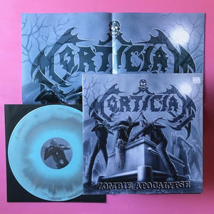 Mortician - Zombie Apocalypse LP (Hells Headbangers, 2012) Blue and silver colored vinyl