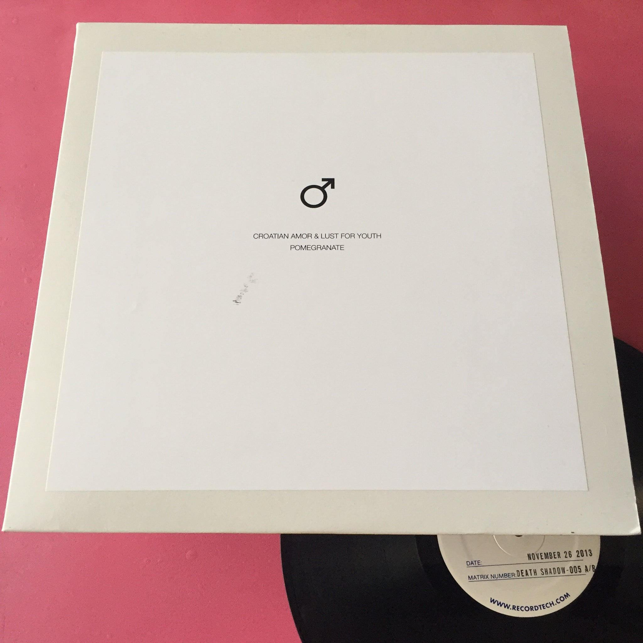 Croatian Amor / Lust For Youth - Pomegranate TEST PRESS LP