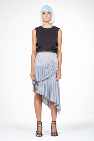 Galvanised Wrap Skirt - Steel Grey