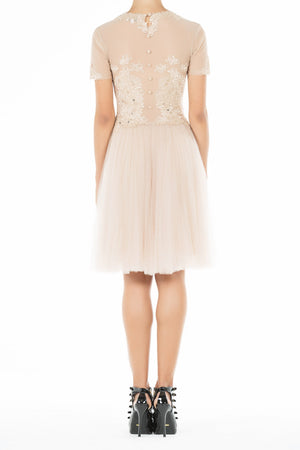 Ethereal Dress - Nude