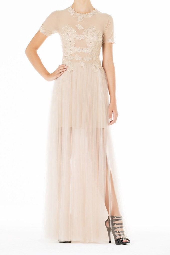 Ethereal Gown - Nude