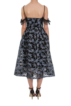 Forget Me Not Dress - Black/Denim