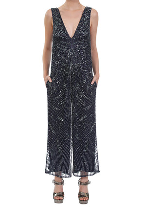 Amplify Beaded Jumpsuit - Midnight Blue