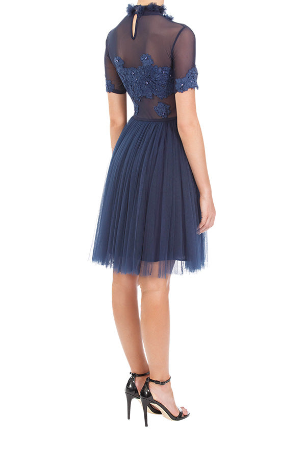Dreamer Lace Dress - Midnight Blue