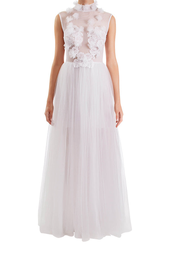 Dreamer Lace Gown - White