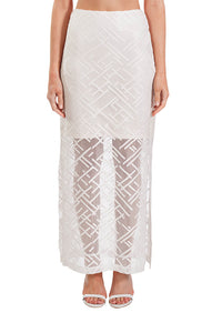 Memory Lane Skirt - White