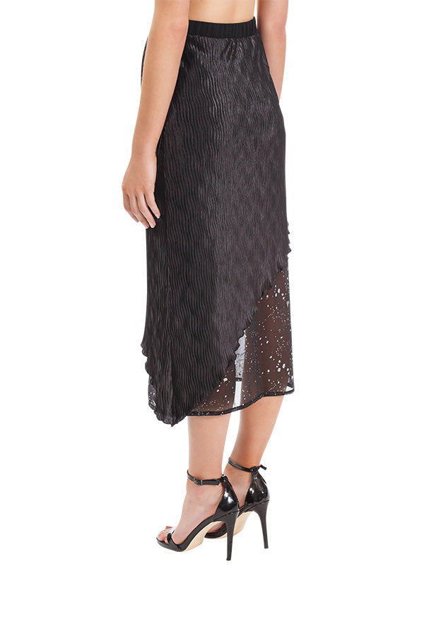 Noble Pleated Skirt - Black