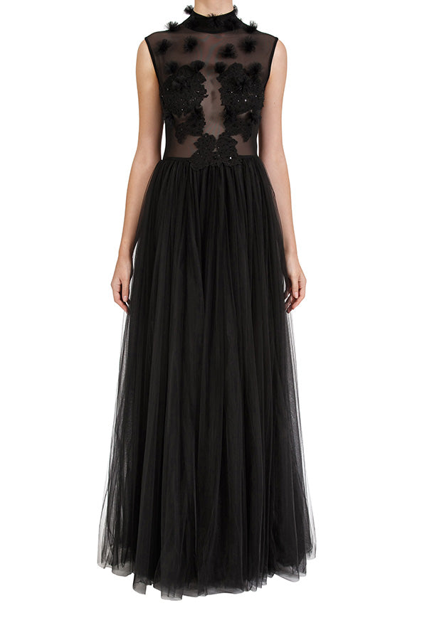 Dreamer Lace Gown - Black