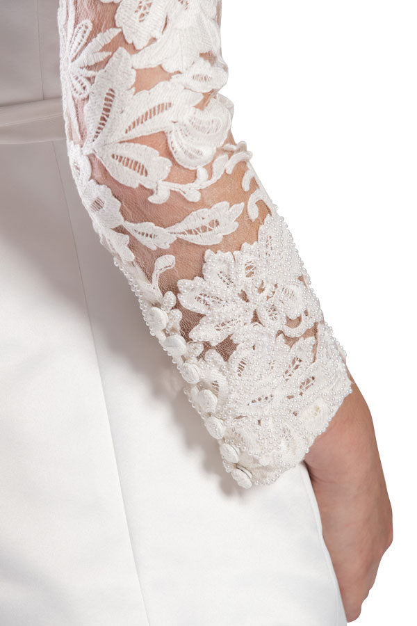 Dynasty Lace Pant (Pearl White)