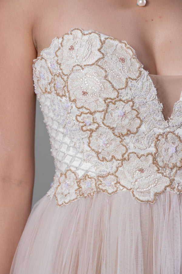 Primrose Gown - Champagne Gold Two-Tone