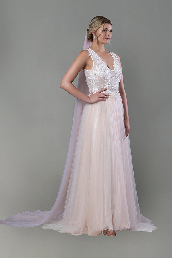 Infinity Gown - Blush Two Tone