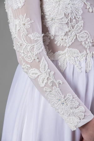 Riviera Gown - Pearl White