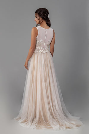 Willow Gown - Champagne Gold Two-Tone