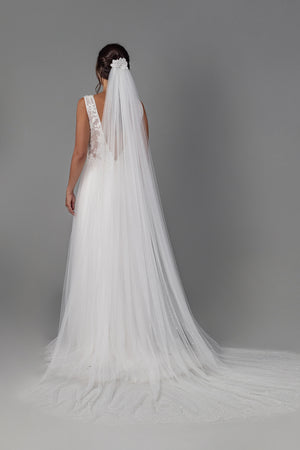 Infinity Gown - Pearl White