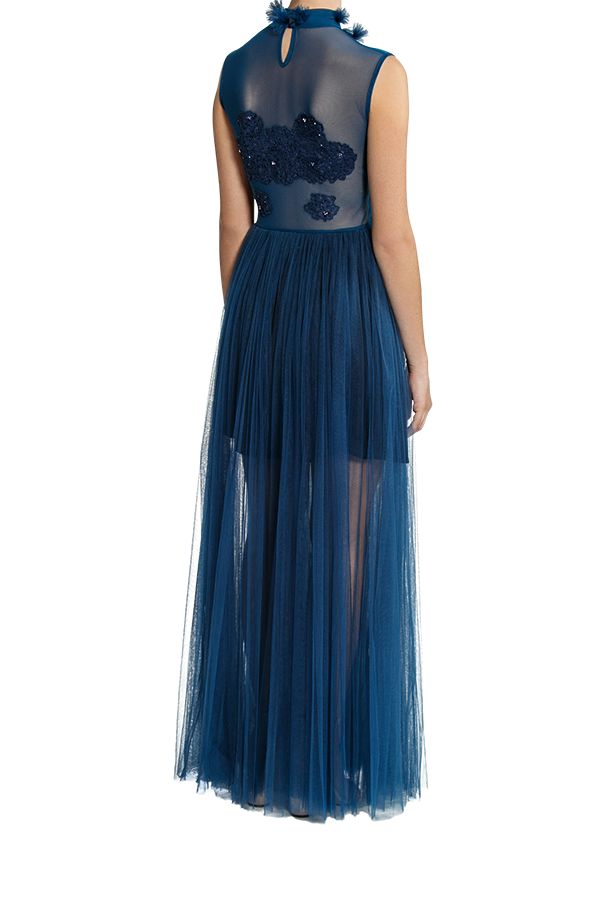 Dreamer Lace Gown - Midnight Blue