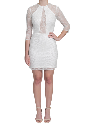 Curator Dress - Pearl White