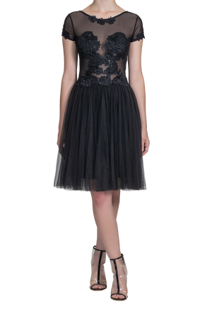 Illusion Lace Dress - Emerald