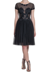 Illusion Lace Dress - Black