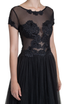 Illusion Lace Gown - Black