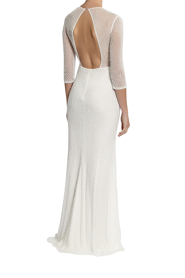 Curator Gown - Pearl White