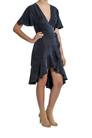 Iris Wrap Dress - Midnight Blue