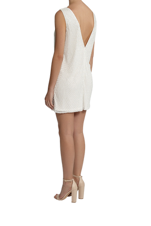 Neo-Art Playsuit - Pearl White