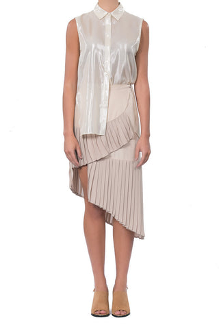 Bloom Wrap Skirt - Taupe