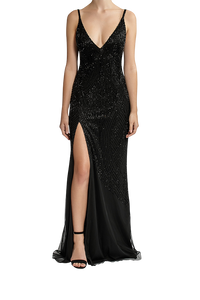 Starry Night Gown - Black
